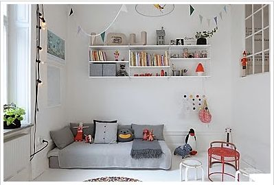 Love this - white, grey and pops of colour: Kids Bedrooms, Kids Playrooms, White And Grey Kids Rooms, Child Rooms, Neutral Rooms, Floors Beds, Baby Rooms, Dorm Rooms, Montessori Rooms