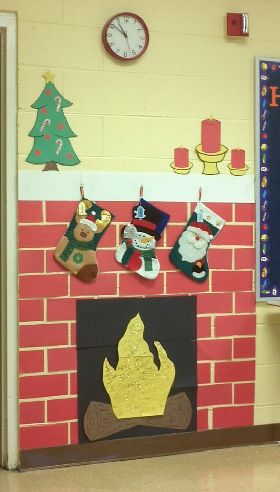 Classroom Ornament Ideas ~ Ideas about cardboard fireplace on pinterest