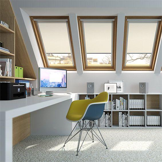 elements cream blackout blind for keylite windows cream blackout blinds and window. Black Bedroom Furniture Sets. Home Design Ideas