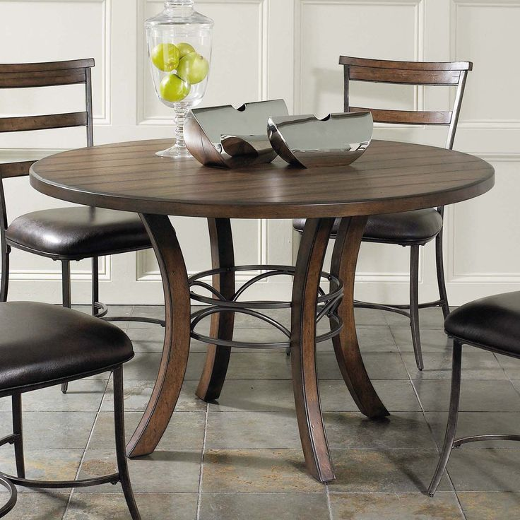 Hillsdale Cameron 5 Piece Round Wood Dining Table Set With Ladder