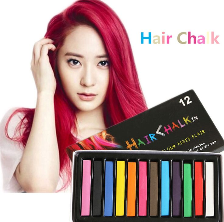 4 6 12 Colors Soft Crayons Hair Dye Hair Color Chalk Temporary Mascara Salon Hair Pastels Chalks Kit Set for Coloring Hair