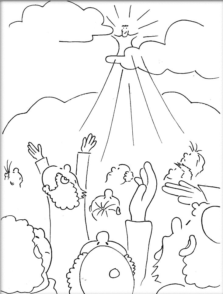 181 Best Bible Nt Jesus Has Risen Returned To Heaven Images On Jesus Ascension Coloring Page