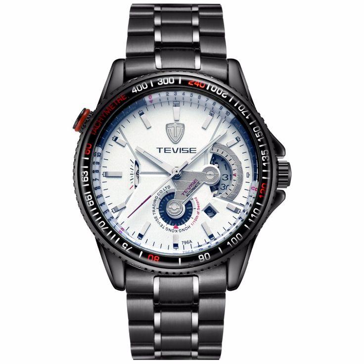 Men's trendy watch fashion automatic mechanical watch through the end watch waterproof men's watch