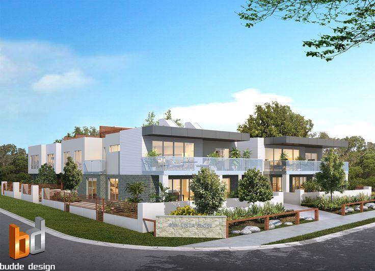3D external render for a development project Mt Martha Victoria. 8 Unit / Townhouse development