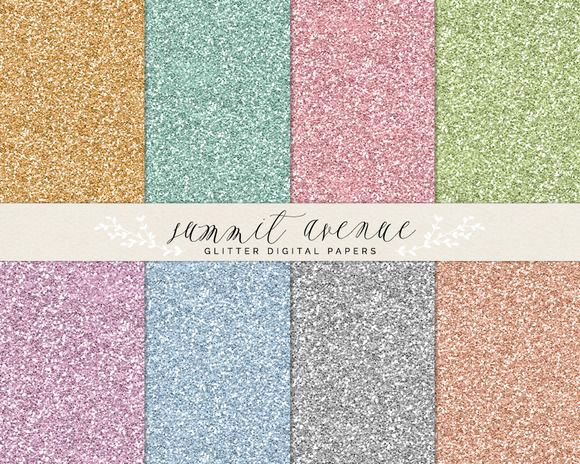 Digital Glitter Papers & Patterns by Summit Avenue on Creative Market