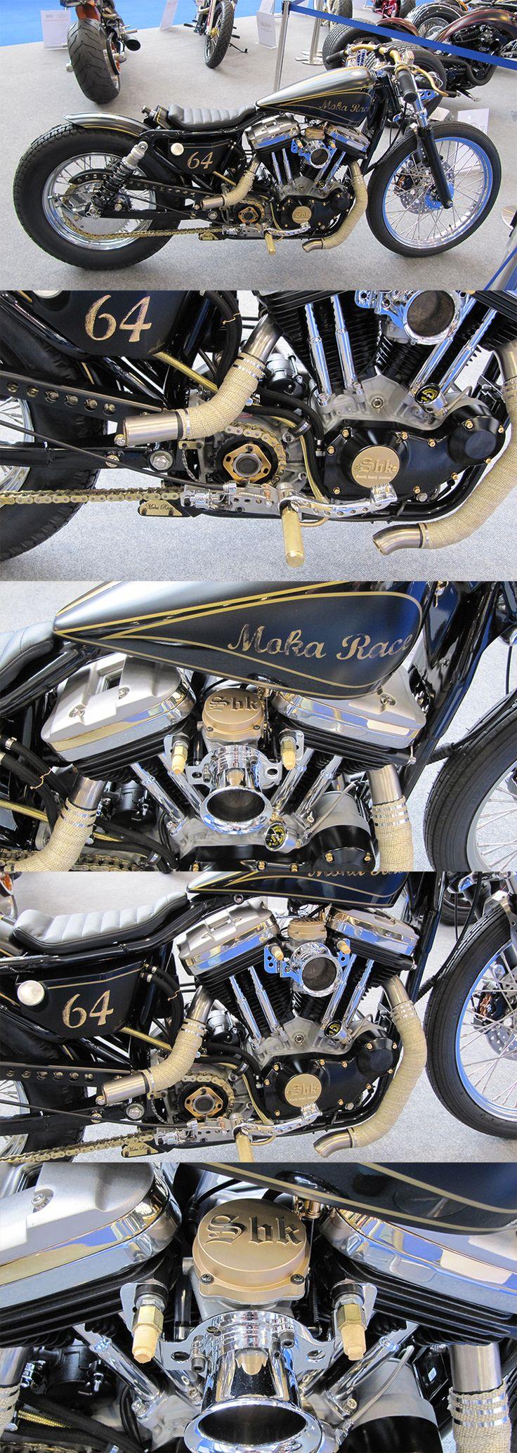 Maka Race number 64, at Essen #AMD world championship in custom bike building