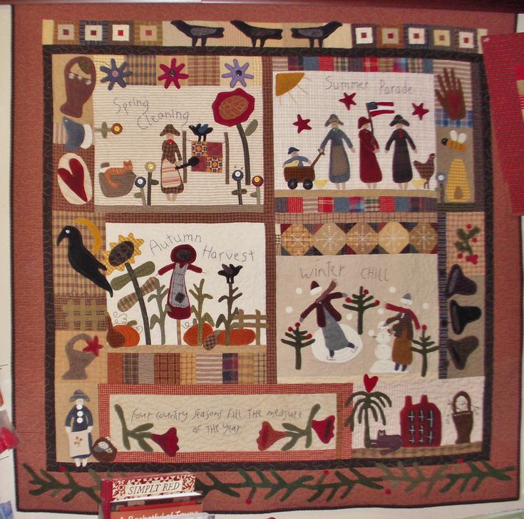 I love, love, love it... I just finished my Country Seasons quilt! The quilt is now on display in the main room at the shop :) And we have the pattern by Cheri Payne available so YOU can make your own Country Seasons ;-)