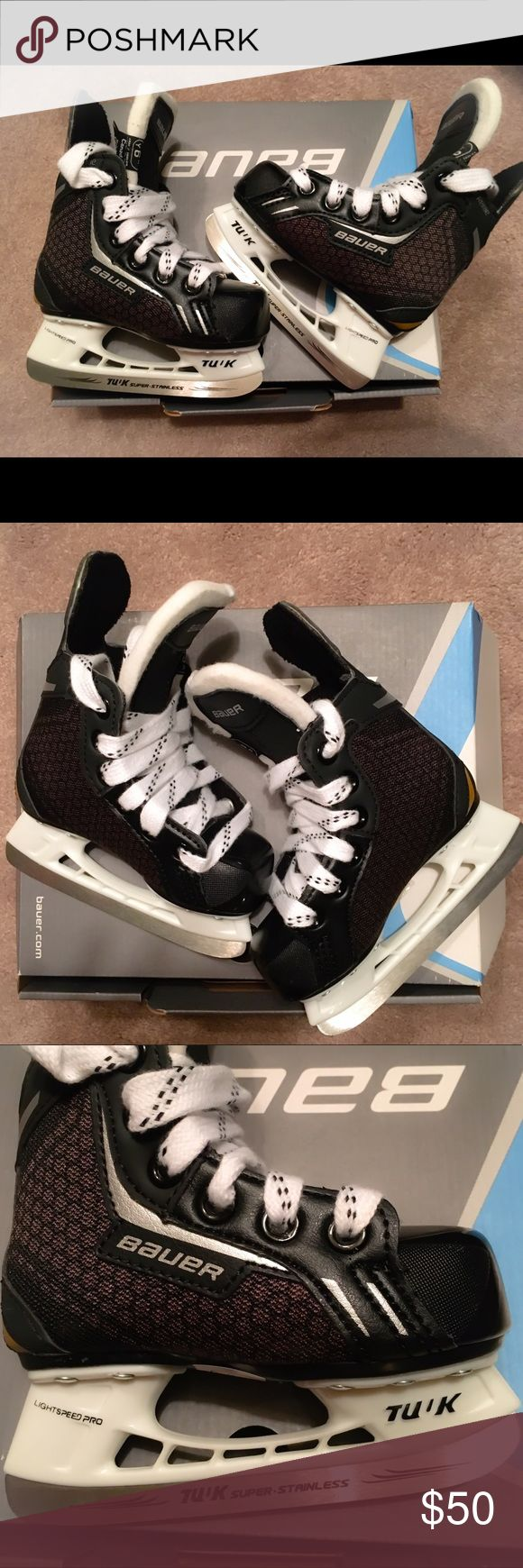 Bauer Toddler Ice Skates Size 6 Bauer Ice skates for a toddler boy (or girl). Black with white and black laces. Brand new never used with box. Size 6 Other