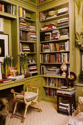 Home Library ~~~ A Love for Books via Picture of Elegance