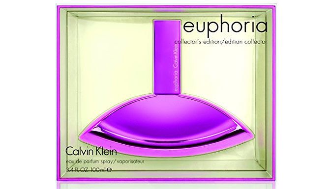 Buy Calvin Klein Euphoria Eau de Parfum 100ml Spray for just £32.99 Adopt a new smell with the Calvin Klein Euphoria Eau de Parfum 100ml Spray      An exotic flowery smell with overtones of fruit      It has top notes of pomegranate and base notes of mahogany violet and musk      Comes in a stylish purple 100ml bottle      Save 53% on the Calvin Klein Euphoria Eau de Parfum 100ml Spray BUY NOW for just GBP32.99