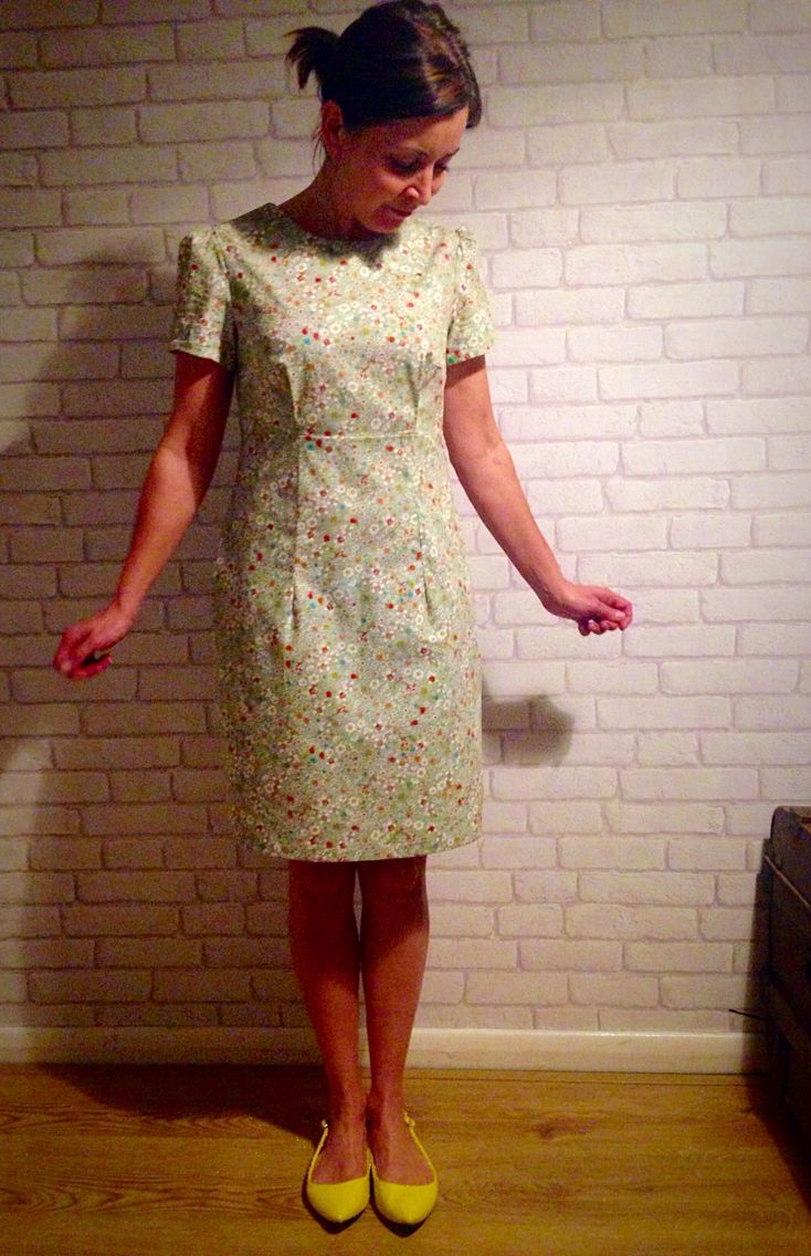 Tada! My very first Megan dress attempt from Tilly & The Buttons, Love at First Stitch!