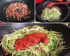 Muita gente faz espaguete de abobrinha para ser uma opção mais leve do que a massa tradicional. Eu faço porque amo abobrinha mesmo! Acho que gosto mais desse espaguete do que do de trigo. Faço com …