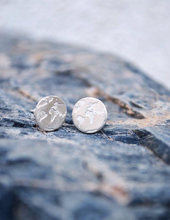 World Earrings / Travel Earrings / Wanderlust by Bubblebox on Etsy