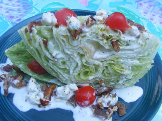 Outback Steak House Lettuce Wedge Salad - I simply adore this copycat recipe for Outback Steak House Lettuce Wedge Salad. It's sooooo good! I think it's better than Outbacks.