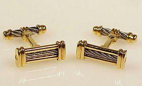 Philippe Charriol 18K Gold & Steel CELTIC Cufflinks