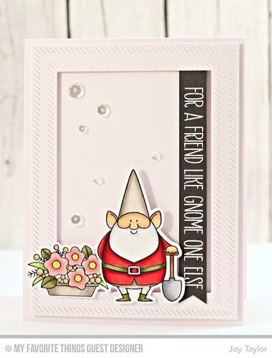 You Gnome Me, Inside & Out Diagonal Stitched Rectangle STAX Die-namics, You Gnome Me Die-namics - Joy Taylor  #mftstamps