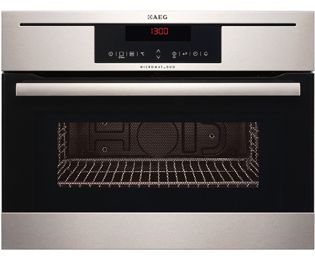 £684 - AEG Competence KR8403021M Built In 59 cm Microwave With Grill - Stainless Steel