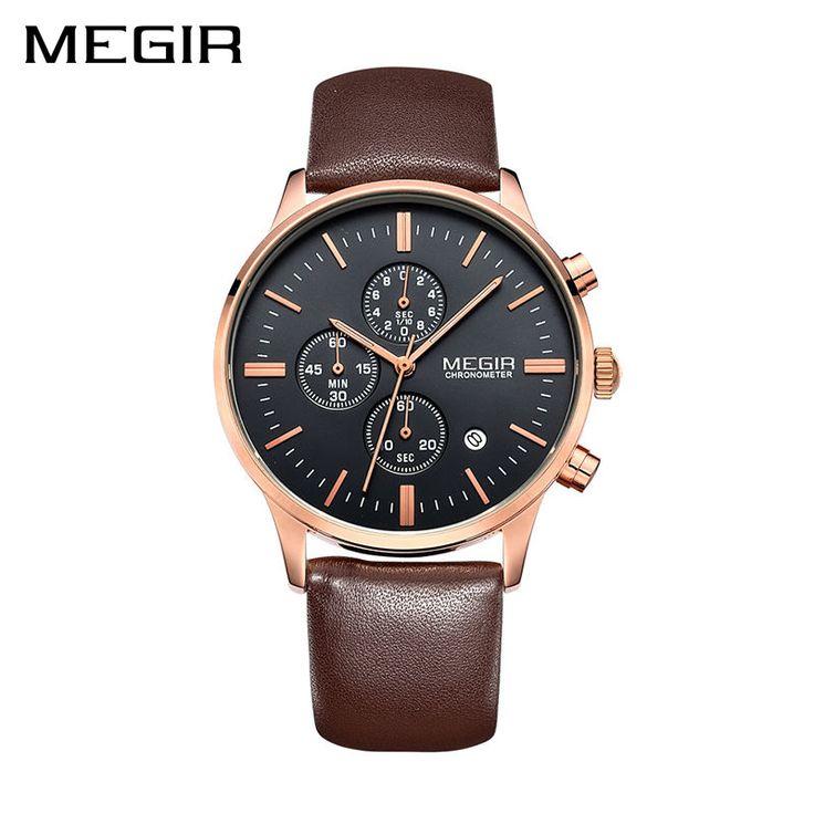 Only US $19.32 MEGIR Original Watch Men Top Brand Luxury Men Watch Leather Clock Men Watches Relogio Masculino Horloges Mannen Erkek Saat
