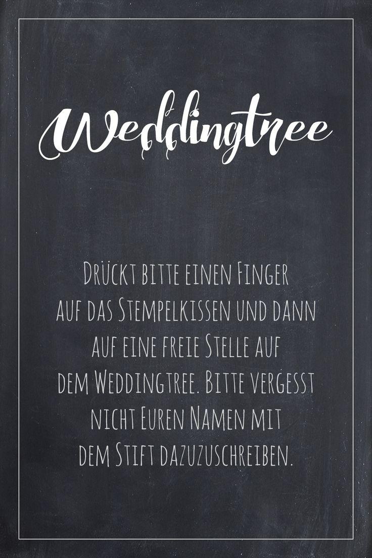 Weddingtree Schild für die Hochzeit zum kostenlosen Download!