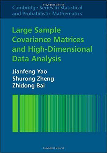 Large sample covariance matrices and high-dimensional data analysis / Jianfeng Yao, Shurong Zheng, Zhidong Bai