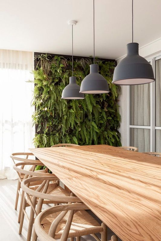 minimalist lighting for an outdoor dining space
