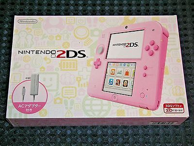 NEW Nintendo 2DS console system PINK w/SD & AC adapter JAPAN import not 3DS F/S  | eBay
