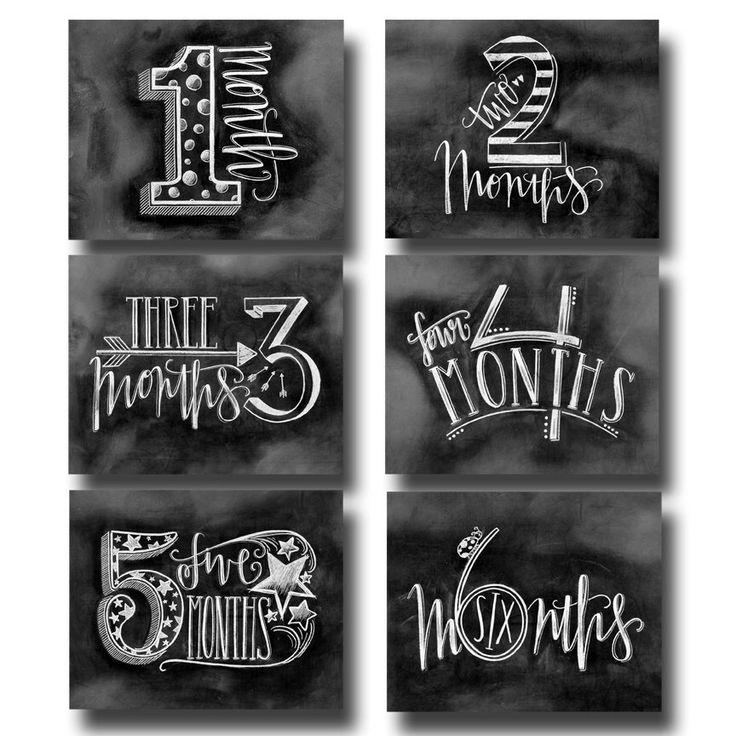 Baby Month Milestone Chalkboard, Baby Milestone Chalkboard, Mom To Be Gift, Baby Months, Chalk Art, Chalkboard Art, by TheWhiteLime on Etsy https://www.etsy.com/listing/217732272/baby-month-milestone-chalkboard-baby