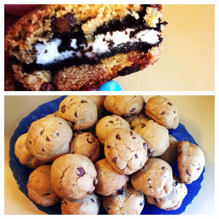 Oreo stuffed chocolate chip cookies   Oreo stuffed chocolate chip ...