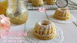 Ciao a tutti! Nuovissima ricetta dolce per voi, sono le ciambelline light con la marmellata di pere light che ho preparato qualche giorno fa, sono dolci e