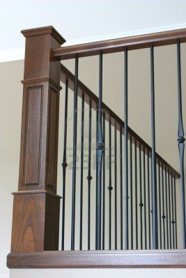 Absolute Fav   Bannister With Wrought Iron And Beautiful Stained Oak