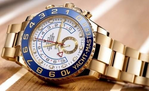 Gold Rolex Yacht Master 2 Watch For Men