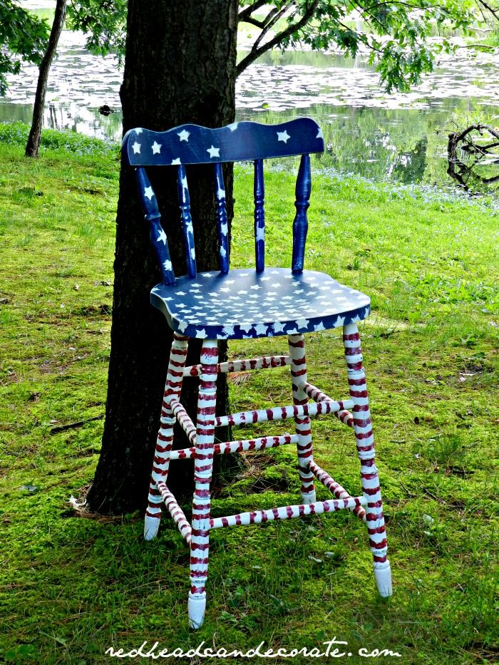 Patriotic Stool  Redoing FurniturePainting FurnitureFurniture  ChairsFurniture IdeasColorful FurnitureStool MakeoverPainting TipsRed White  BlueKitchen  64 best chairs for charity images on Pinterest   Painted furniture  . Red White And Blue Painted Furniture. Home Design Ideas