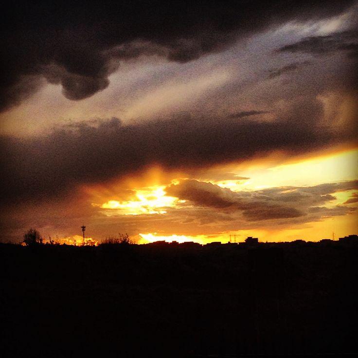 Il cielo Dipinto dal vento #sky # sunset #tramonto #cielo #nuvole #sole #sun #cloud #myvision