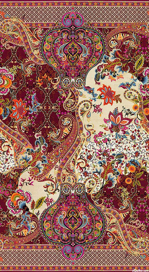 Tivoli - Jacobean Jubilee Double Border - Quilt Fabrics from www.eQuilter.com