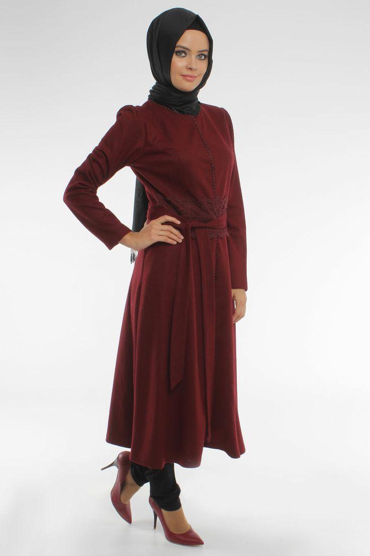 Original Supply Turkey Womens Muslim Loose Large Size Shirt Dress Middle Dress