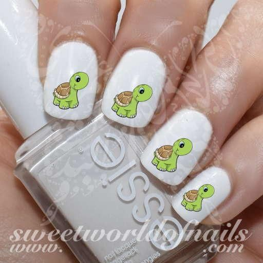 25 beautiful turtle nail art ideas on pinterest turtle nails turtle nail art cute turtle nail water decals water slides prinsesfo Gallery