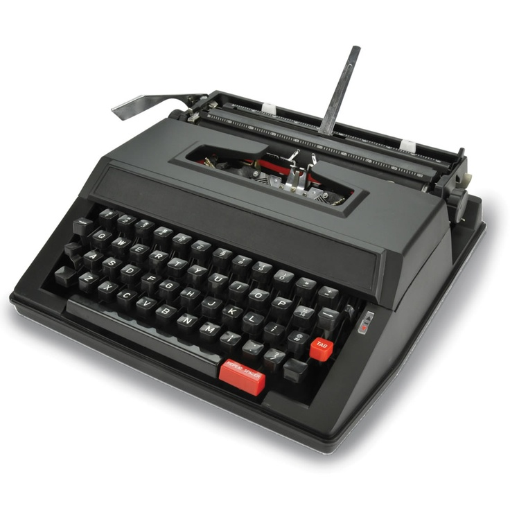 A brand-new typewriter.  That's right.  Good thing, because my old one is nearly dead!