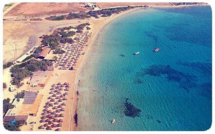 Santa Maria and Chrysi Akti, two beaches for entertainment near #Naoussa in #Paros