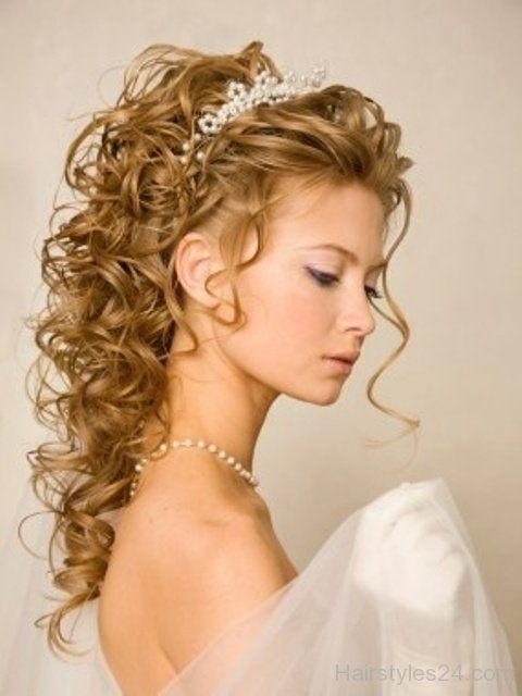 Curly Wedding Hairstyles And Cute