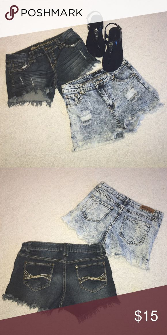 🆕 Listing Juniors shorts Gently used. These shorts were purchased in the Juniors Department. No stains. Both size 11 Shorts