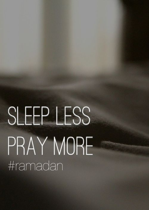 Goal this Ramadan: sleep less, pray more!! Not everyone gets a chance to see Ramadan again, so if you do get the chance- spend your Ramadan wisely be grateful to have yet another blessed opportunity :)