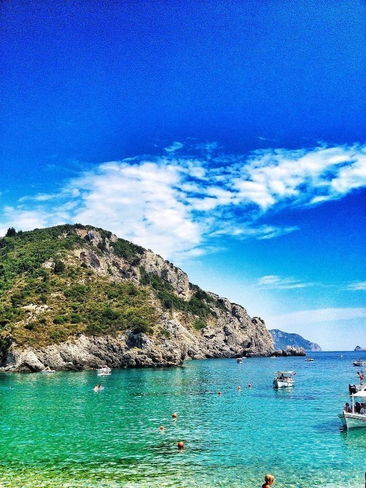Paleokastritsa beach, Greece - one of my most favourite holidays. Craving summer sunshine!