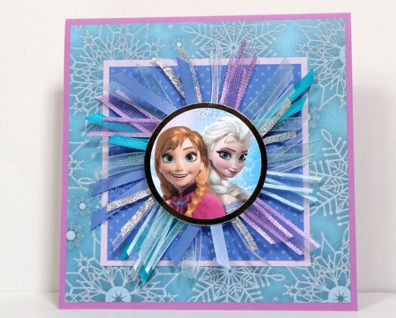 Frozen Cards  Anna and Elsa   Handmade Frozen Cards  by k8cards, $6.00