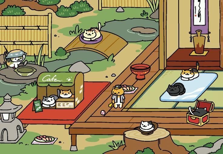 Zen style Neko atsume, Rare cats, Neko