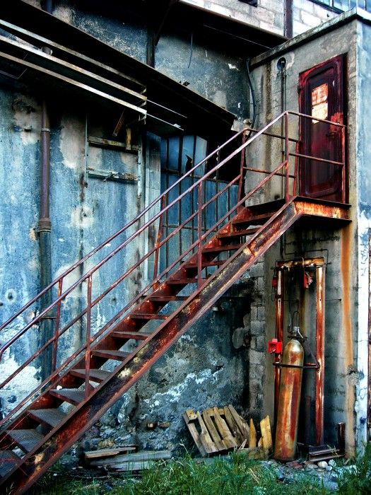 Rusty Staircase by Maniaque Thomas | onemillionphotographers.com