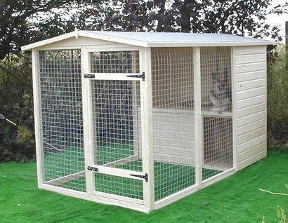 Будка для собак, вольеры для животных, клетки для кроликов - материал сосна.
