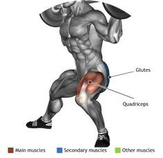 QUADRICEPS - BARBELL SIDE SPLIT SQUAT