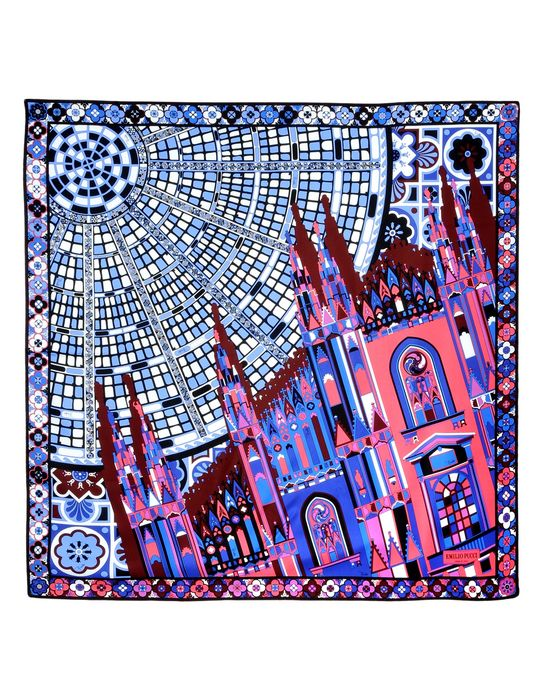 Emilio Pucci Cities of the World limited edition Milan scarf, 2015, La Rinascente.