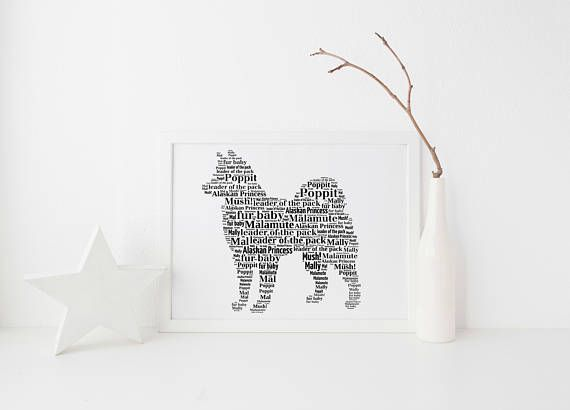 Alaskan Malamute Dog Custom Print FREE UK  Postage - Custom Pet Portrait,  Dog Lover Gift, Husky Print, Siberian  Husky Art, Balto Dog Poster