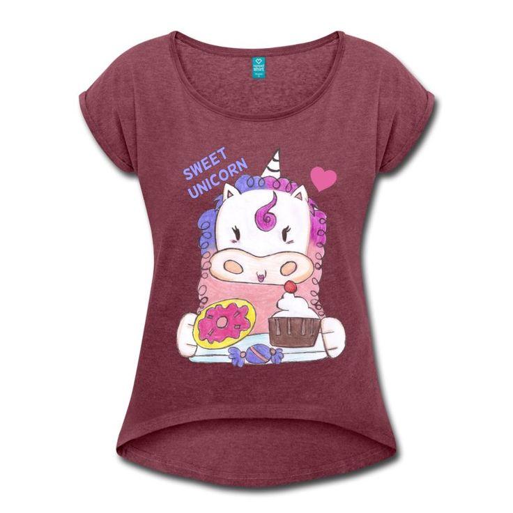Sweet Unicorn - T-shirt by elekairi on Spreadshirt https://www.spreadshirt.it/-A200226053 #tshirt #shopping #clothing #sweet #candy #unicorn #fantasy #elekairi